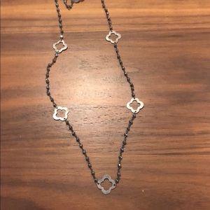 Chan Luu necklace long dark grey labradorite